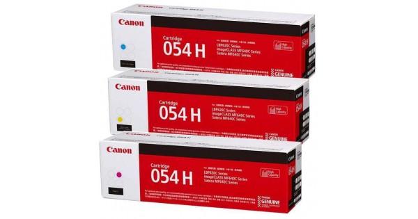 佳能 Canon CRG-054H 原廠碳粉匣(藍C、黃Y、紅M)