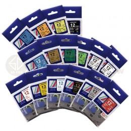 TZ-系列 12mm相容護貝標籤帶*買十送一