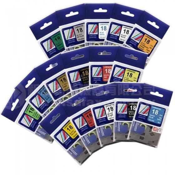 TZ-系列 18mm相容護貝標籤帶*買十送一
