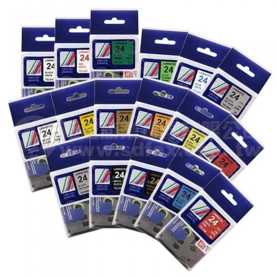 TZ-系列 24mm相容護貝標籤帶*買十送一