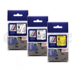 TZ-系列 6mm相容護貝標籤帶*買十送一